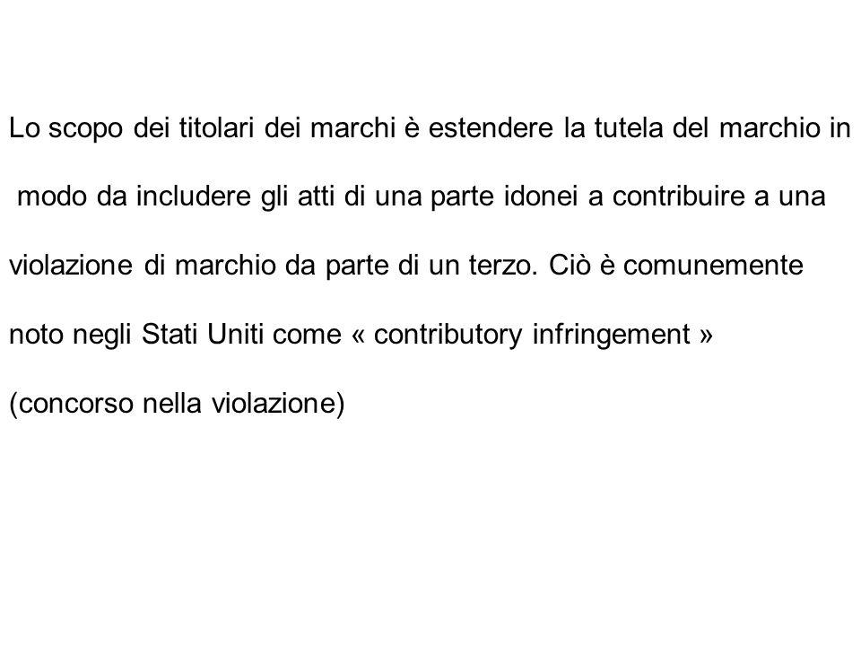quattro condizioni cumulative affinché i titolari dei marchi possano vietare l'uso degli stessi in forza dell'art.