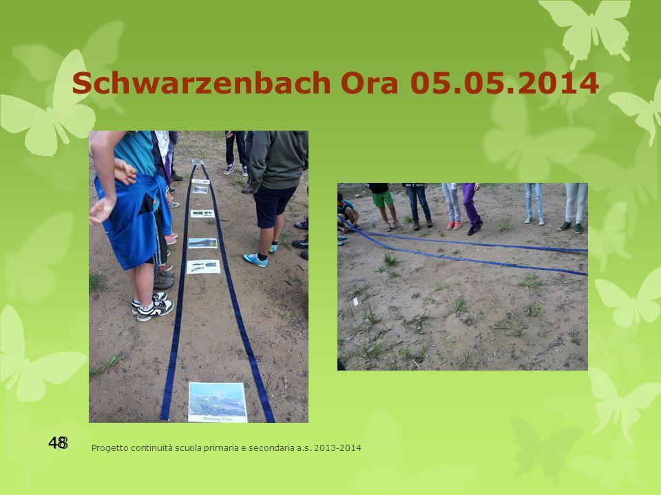 Schwarzenbach Ora 05.05.2014 Progetto continuità scuola primaria e secondaria a.s. 2013-2014 48