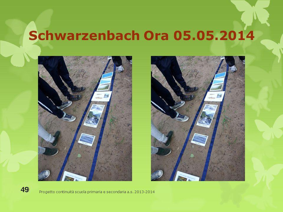Schwarzenbach Ora 05.05.2014 Progetto continuità scuola primaria e secondaria a.s. 2013-2014 49