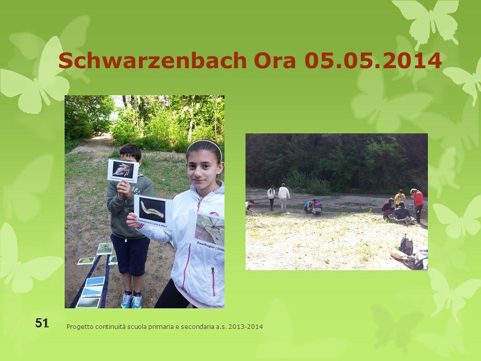 Schwarzenbach Ora 05.05.2014 Progetto continuità scuola primaria e secondaria a.s. 2013-2014 51