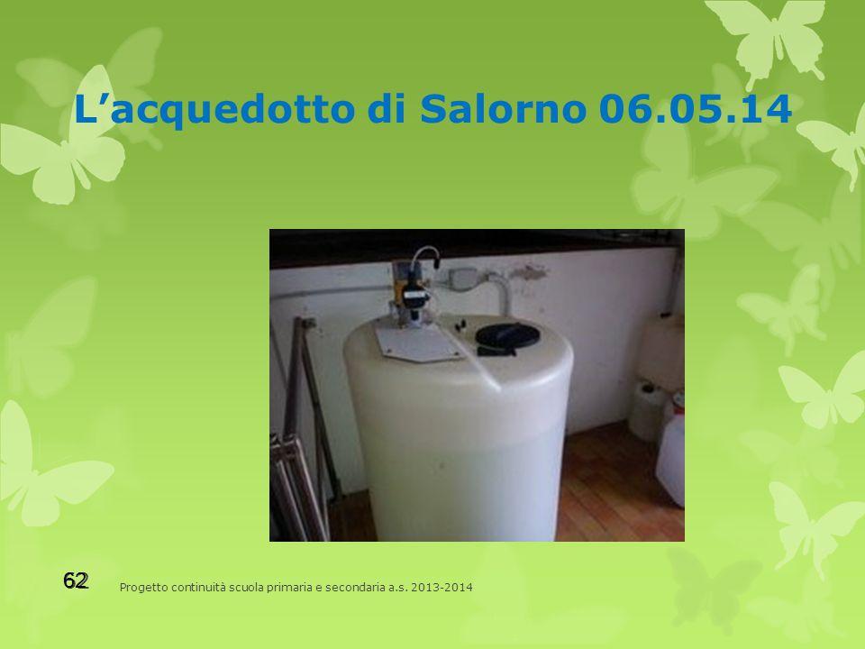 L'acquedotto di Salorno 06.05.14 Progetto continuità scuola primaria e secondaria a.s.
