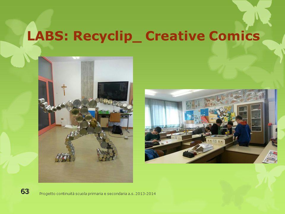 LABS: Recyclip_ Creative Comics Progetto continuità scuola primaria e secondaria a.s. 2013-2014 63