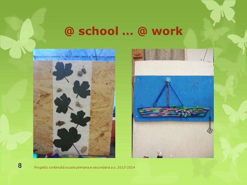 @ school … @ work Progetto continuità scuola primaria e secondaria a.s. 2013-2014 8 8