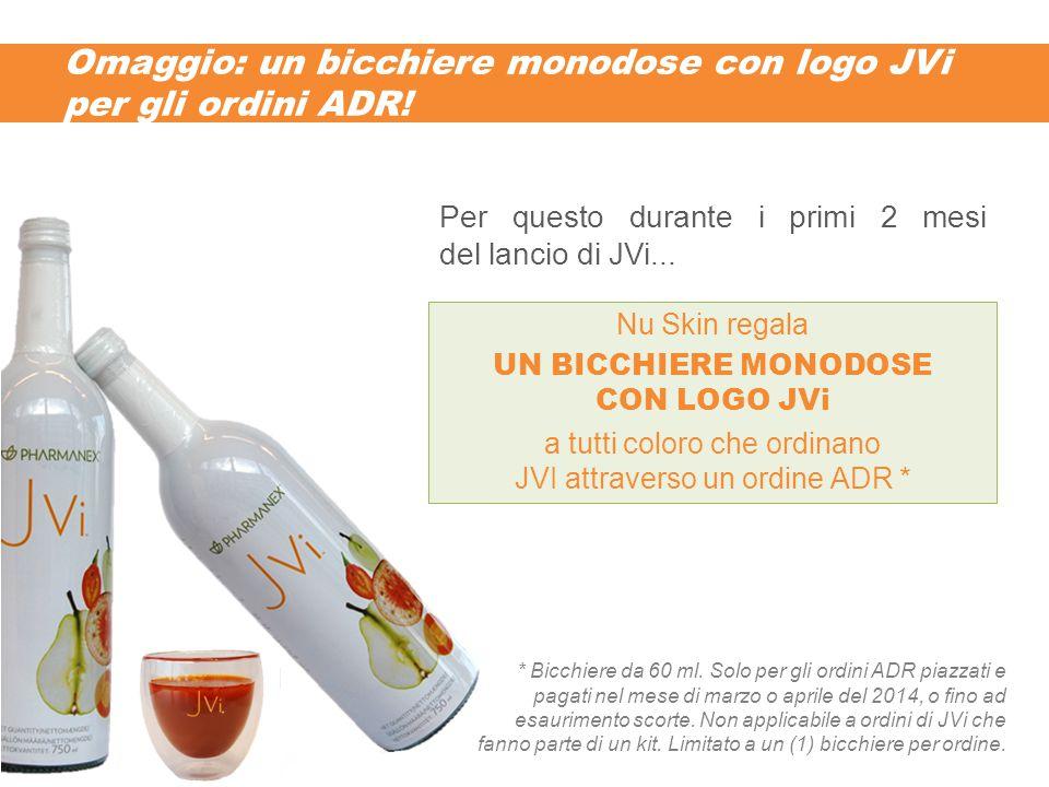 Omaggio: un bicchiere monodose con logo JVi per gli ordini ADR! * Bicchiere da 60 ml. Solo per gli ordini ADR piazzati e pagati nel mese di marzo o ap