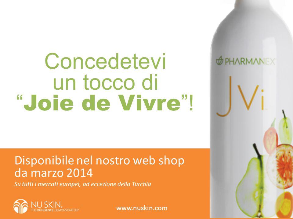 """Concedetevi un tocco di """" Joie de Vivre """"! Su tutti i mercati europei, ad eccezione della Turchia Disponibile nel nostro web shop da marzo 2014 www.nu"""