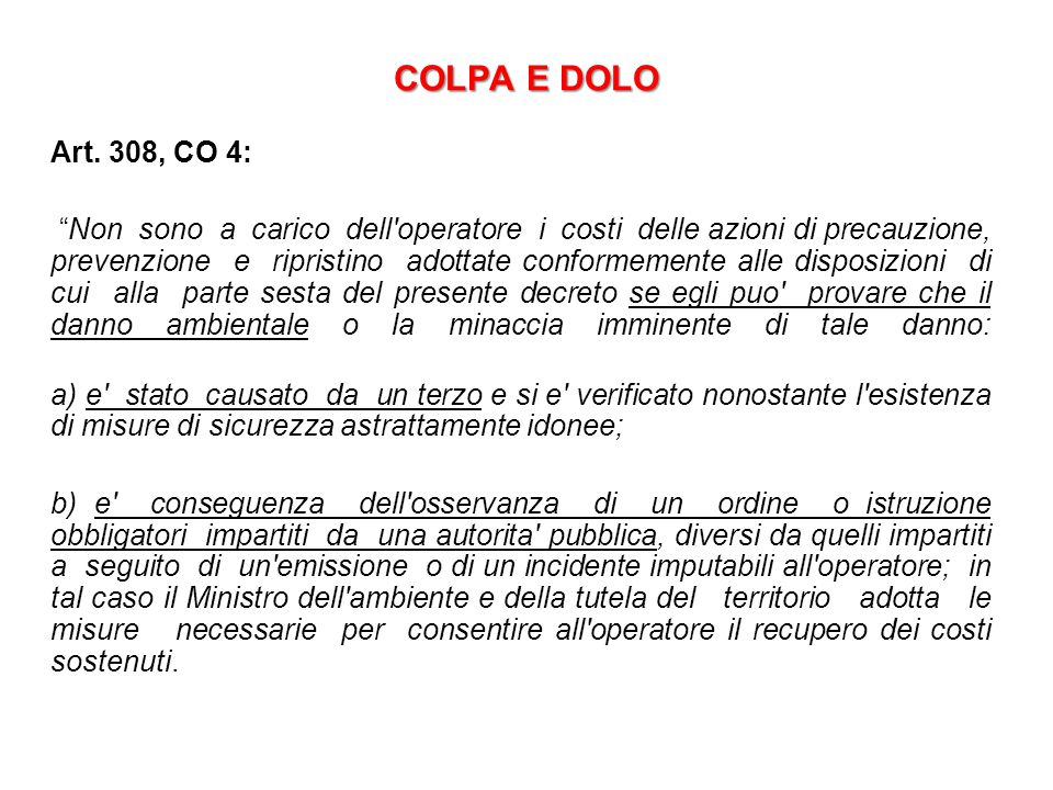 COLPA E DOLO Art.