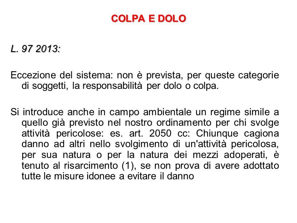 COLPA E DOLO L.