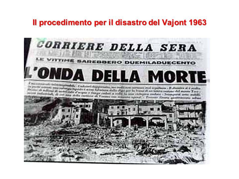 Il procedimento per il disastro del Vajont 1963