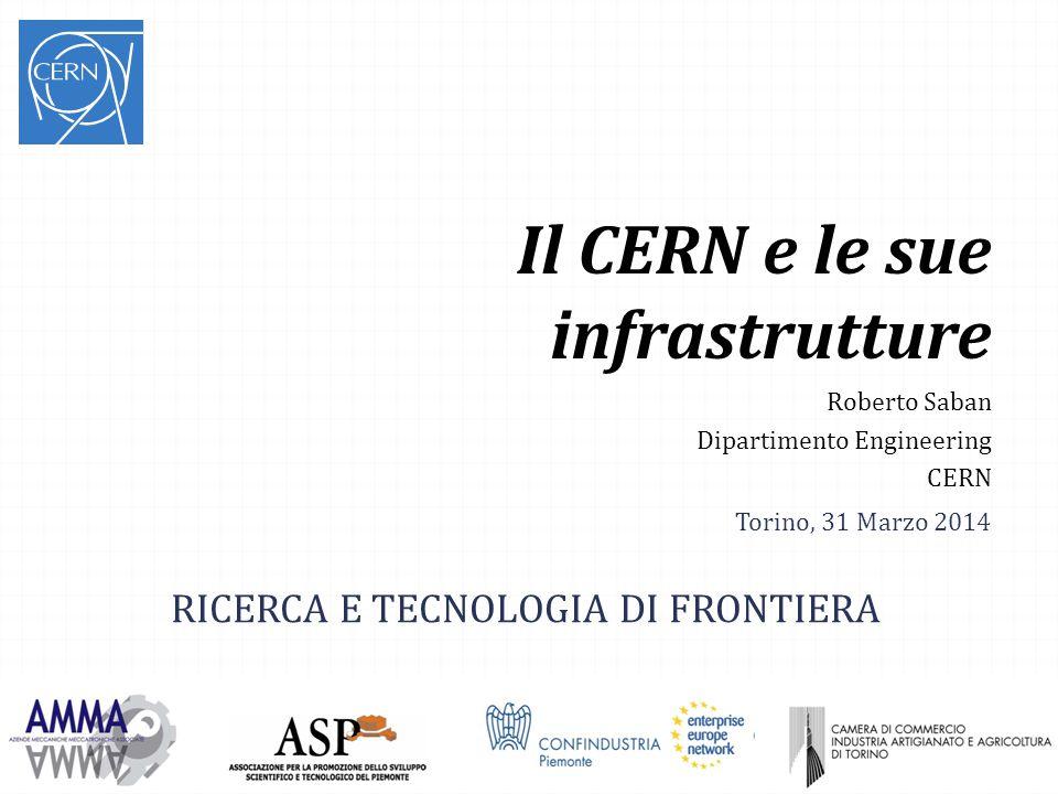 Il CERN e le sue infrastrutture Roberto Saban Dipartimento Engineering CERN RICERCA E TECNOLOGIA DI FRONTIERA Torino, 31 Marzo 2014