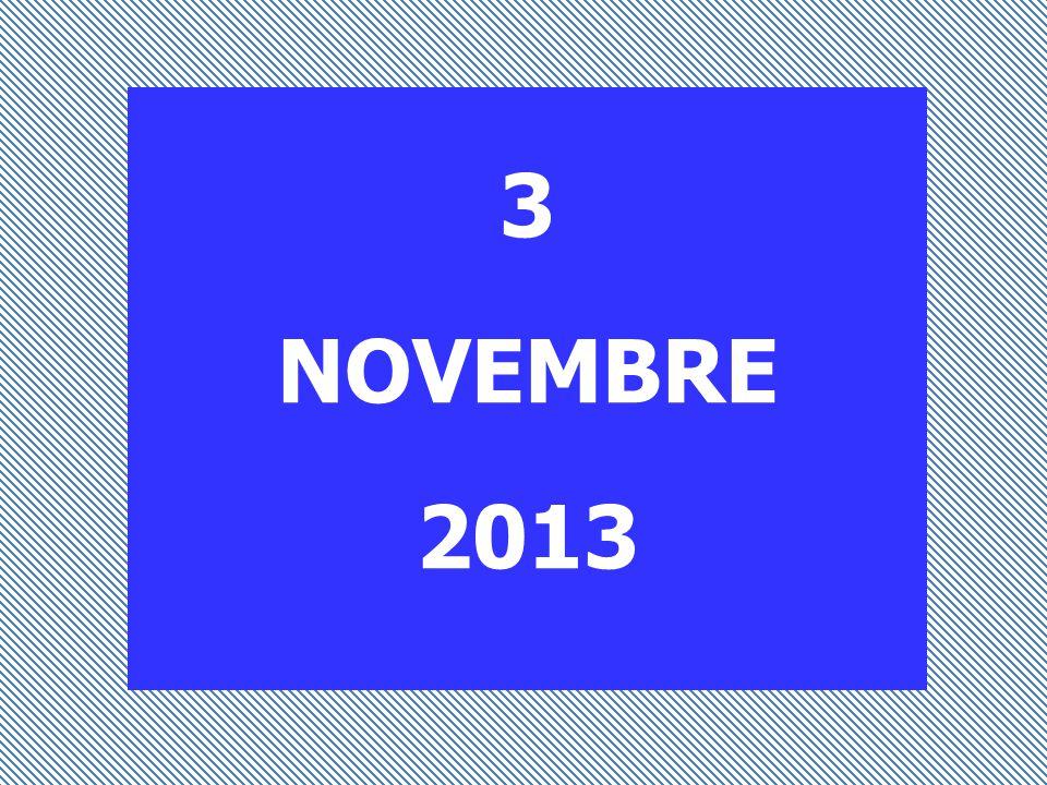 3 NOVEMBRE 2013