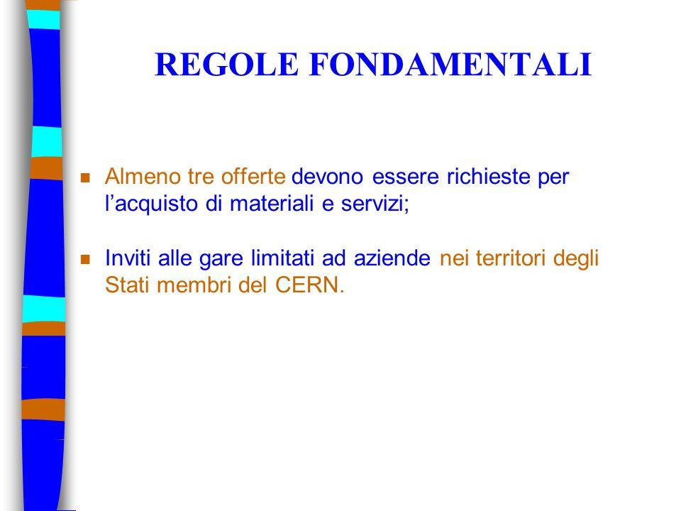 CONTATTI n Contatto commerciale al CERN per l'Italia Dante Gregorio Tel +41 22 767 63 35 Fax +41 22 766 99 12 E-mail: Dante.Gregorio@cern.chDante.Gregorio@cern.ch Sito web: http://cern.ch/procurementhttp://cern.ch/procurement