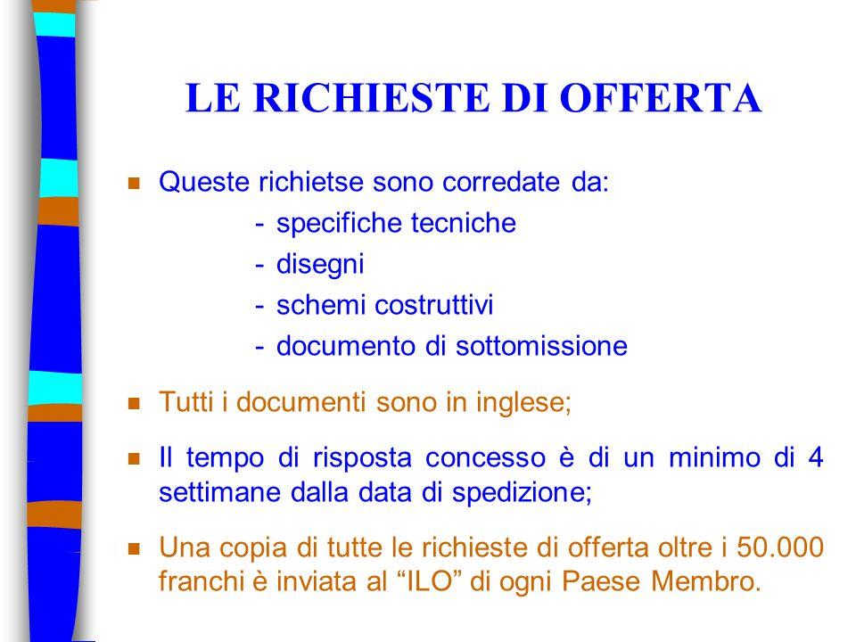 INFORMAZIONI ULTERIORI n Visitate il sito Web del servizio acquisti del CERN: http://cern.ch/procurement