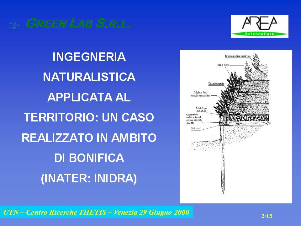 UTN – Centro Ricerche THETIS – Venezia 29 Giugno 2000 2/15