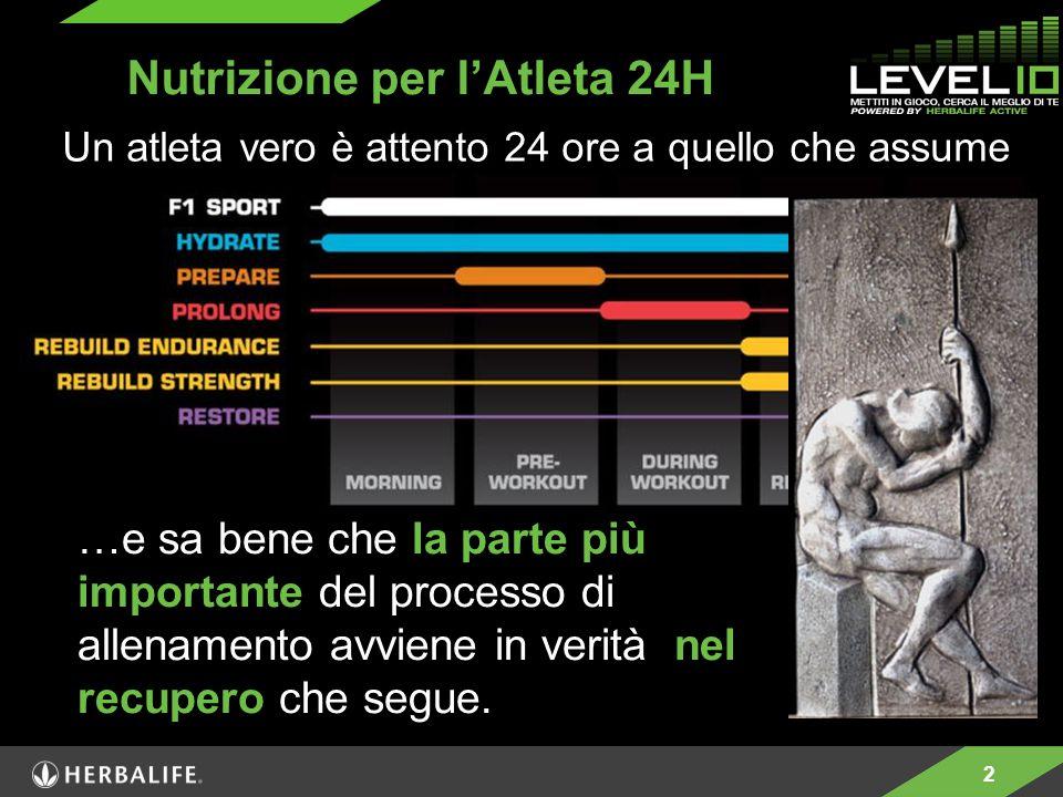 2 …e sa bene che la parte più importante del processo di allenamento avviene in verità nel recupero che segue. Nutrizione per l'Atleta 24H Un atleta v