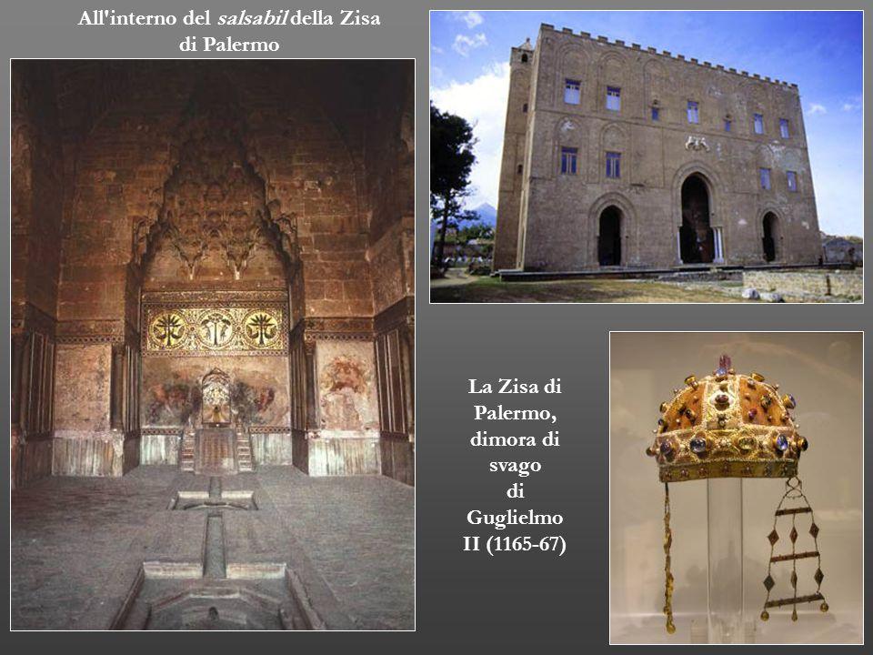 All'interno del salsabil della Zisa di Palermo La Zisa di Palermo, dimora di svago di Guglielmo II (1165-67)