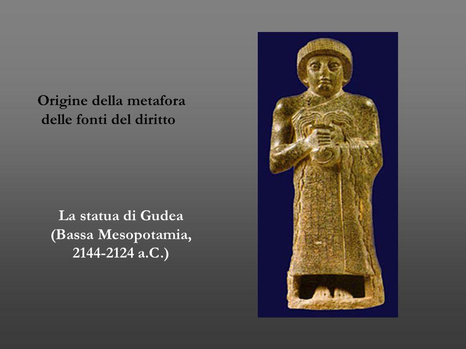 La statua di Gudea (Bassa Mesopotamia, 2144-2124 a.C.) Origine della metafora delle fonti del diritto