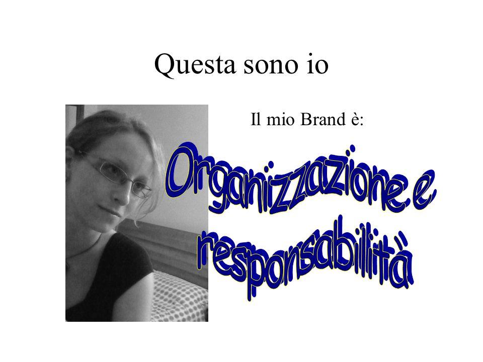 Questa sono io Il mio Brand è: