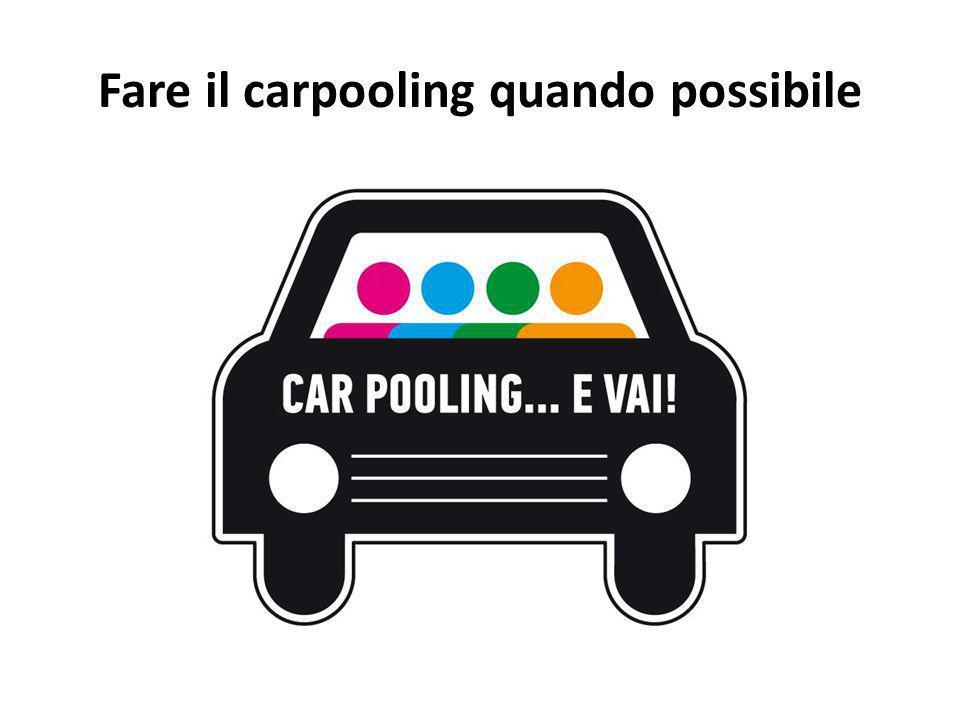 Fare il carpooling quando possibile