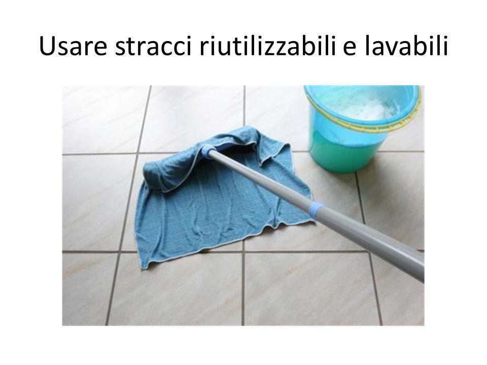 Usare stracci riutilizzabili e lavabili