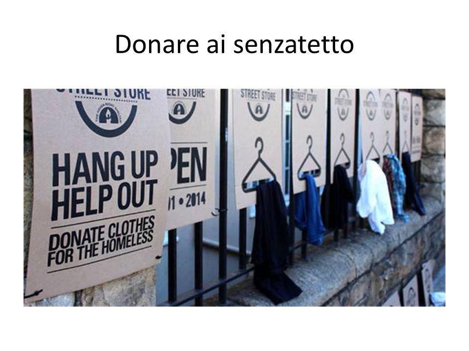 Donare ai senzatetto