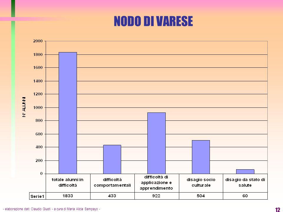 - elaborazione dati: Claudio Giusti - a cura di Maria Alicia Sampayo - 12 NODO DI VARESE