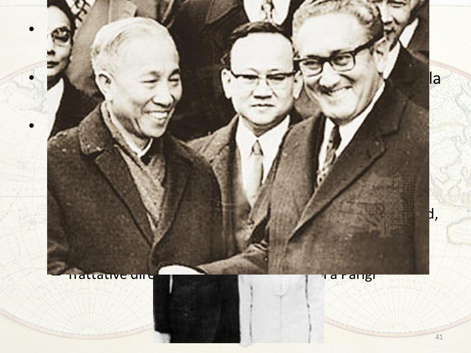 41 Fallimento dei primi negoziati diretti nel 1968: lo zampino di Nixon ? Promessa elettorale di concludere la guerra (la parola 'vittoria' di fatto s