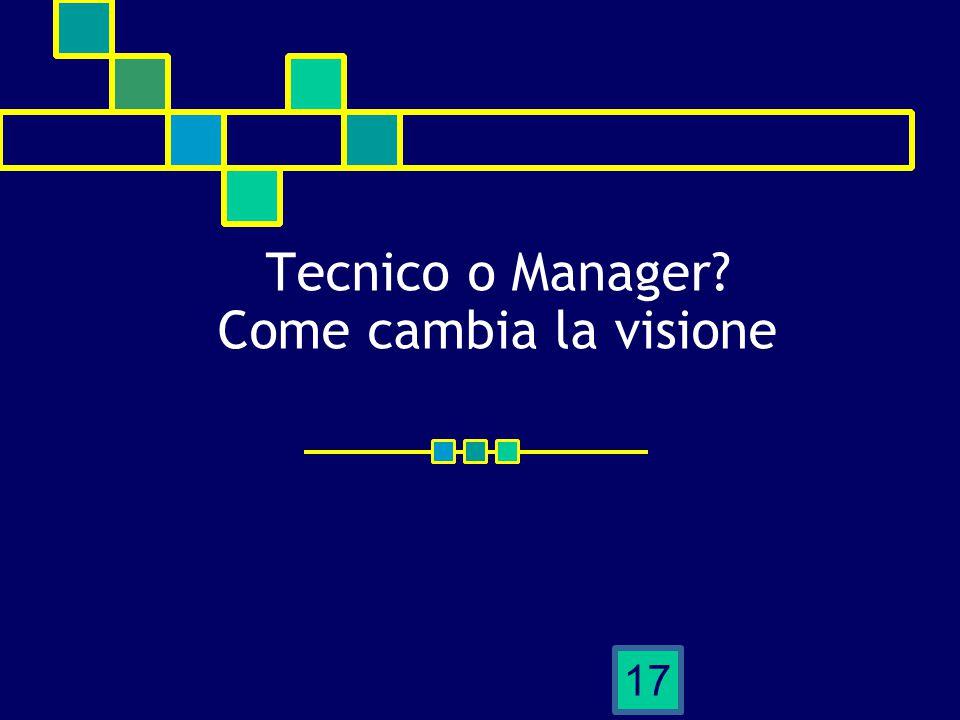Tecnico o Manager? Come cambia la visione 17