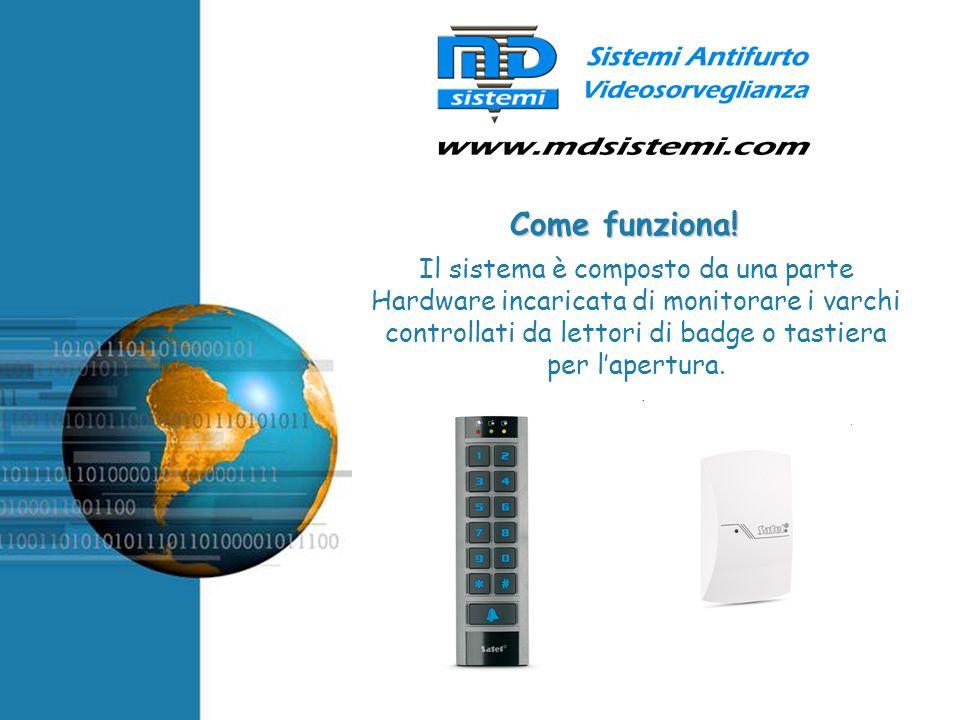 Free Powerpoint Templates Il sistema è composto da una parte Hardware incaricata di monitorare i varchi controllati da lettori di badge o tastiera per