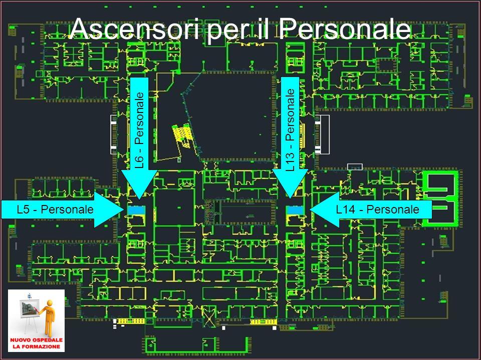 28 Ascensori per il Personale L5 - PersonaleL14 - Personale L13 - Personale L6 - Personale
