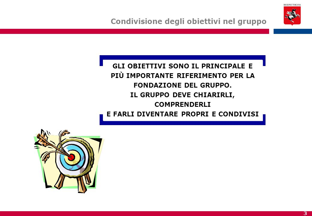 3 GLI OBIETTIVI SONO IL PRINCIPALE E PIÙ IMPORTANTE RIFERIMENTO PER LA FONDAZIONE DEL GRUPPO.