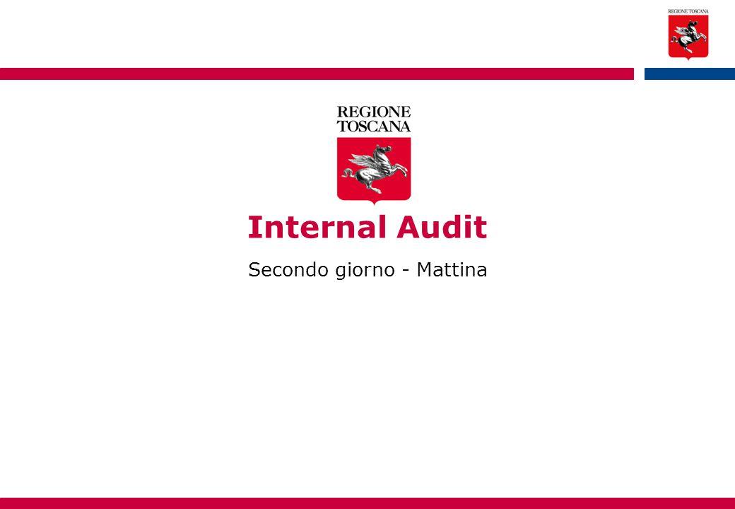 Internal Audit Secondo giorno - Mattina