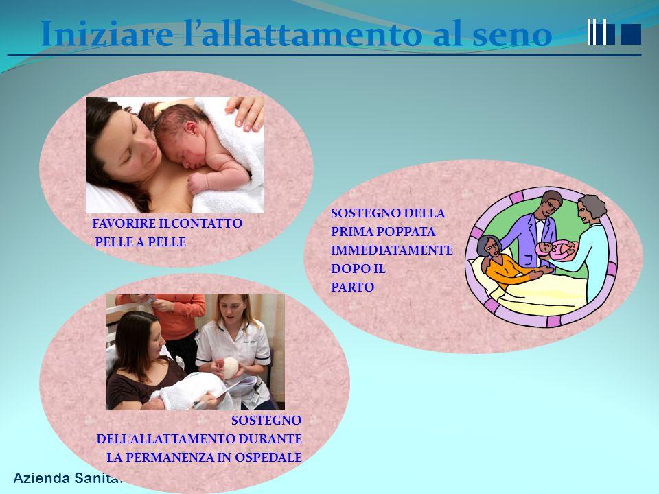 Azienda Sanitaria Firenze Iniziare l'allattamento al seno FAVORIRE ILCONTATTO PELLE A PELLE SOSTEGNO DELLA PRIMA POPPATA IMMEDIATAMENTE DOPO IL PARTO
