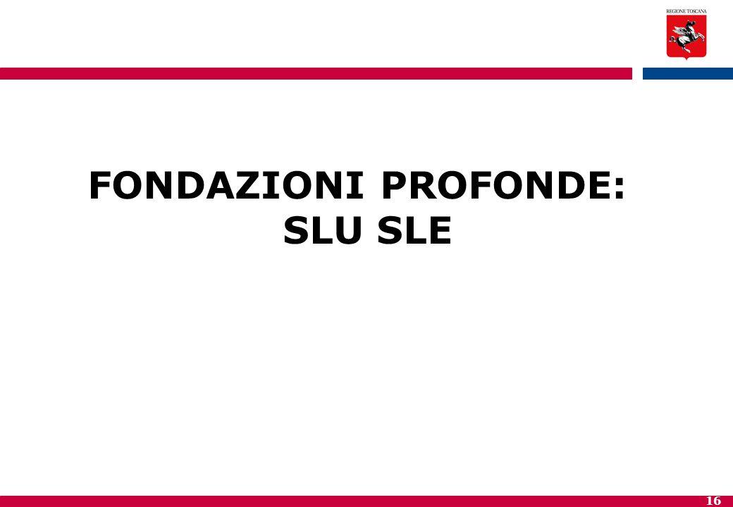 16 FONDAZIONI PROFONDE: SLU SLE