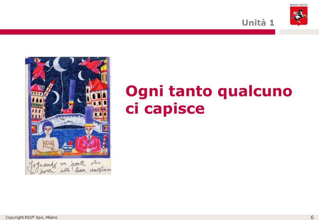 Copyright RSO ® SpA, Milano 6 Ogni tanto qualcuno ci capisce Unità 1