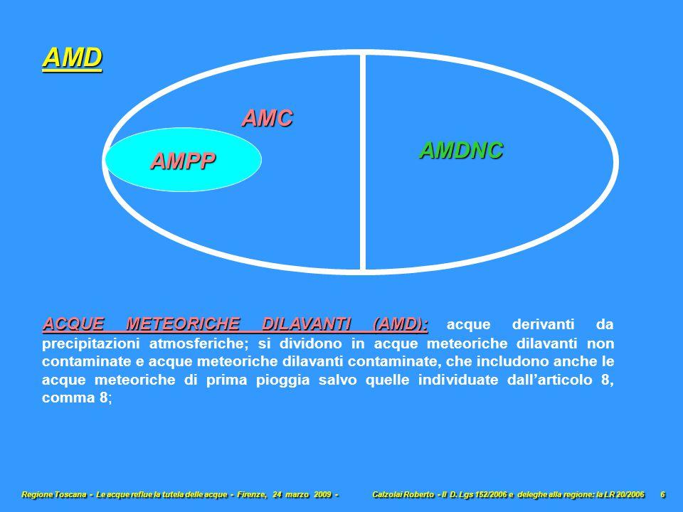 ACQUE METEORICHE DILAVANTI (AMD): ACQUE METEORICHE DILAVANTI (AMD): acque derivanti da precipitazioni atmosferiche; si dividono in acque meteoriche di