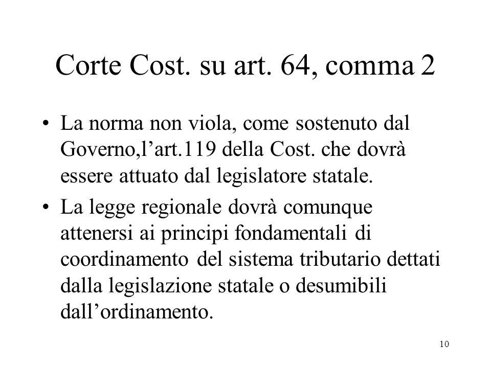 10 Corte Cost. su art.