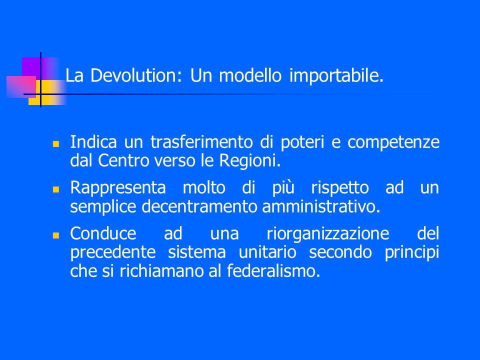 La Devolution: Un modello importabile.