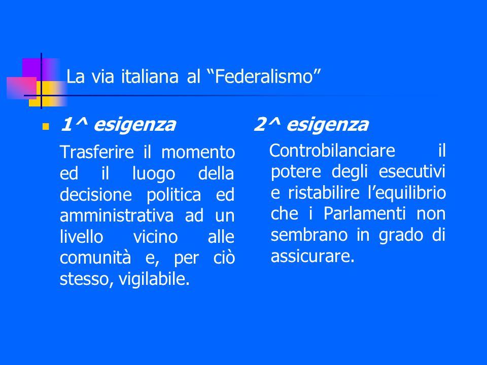 Il federalismo a Costituzione invariata del 1997-98 Le Leggi Bassanini Legge n.