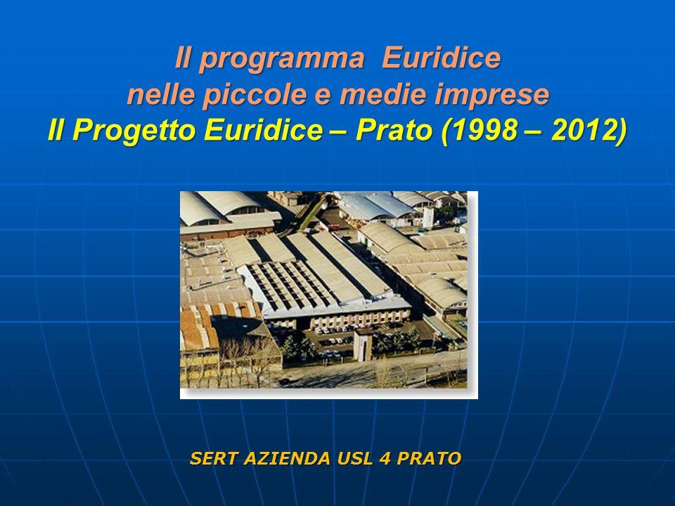 Il programma Euridice nelle piccole e medie imprese Il Progetto Euridice – Prato (1998 – 2012) SERT AZIENDA USL 4 PRATO