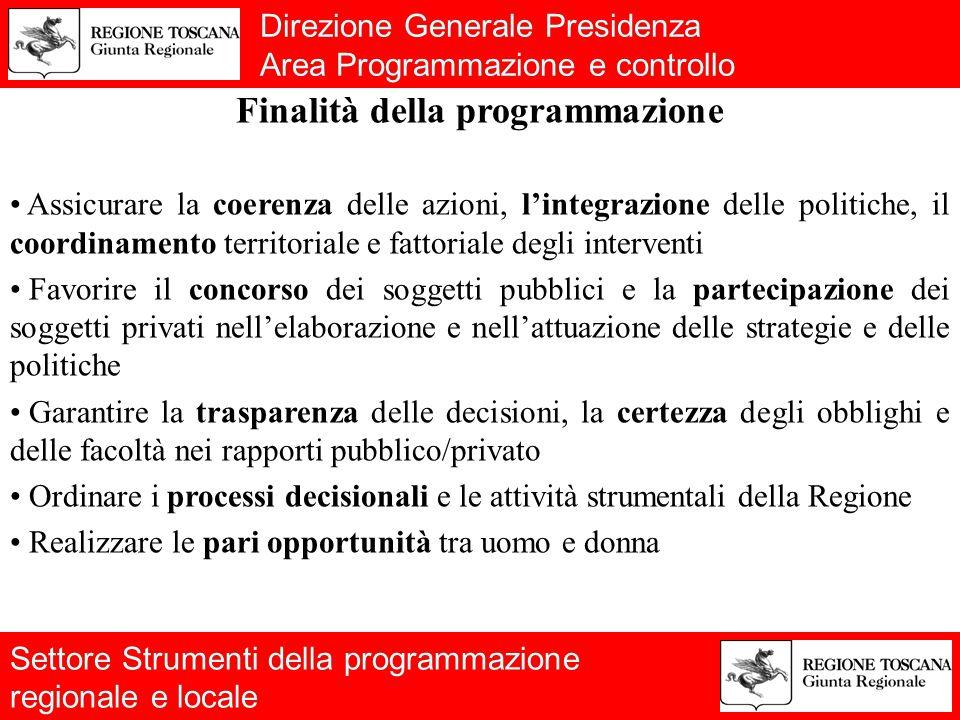 Direzione Generale Presidenza Area Programmazione e Controllo