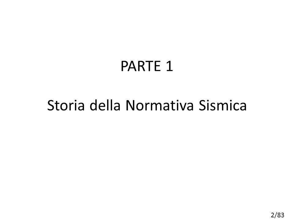 2/83 PARTE 1 Storia della Normativa Sismica
