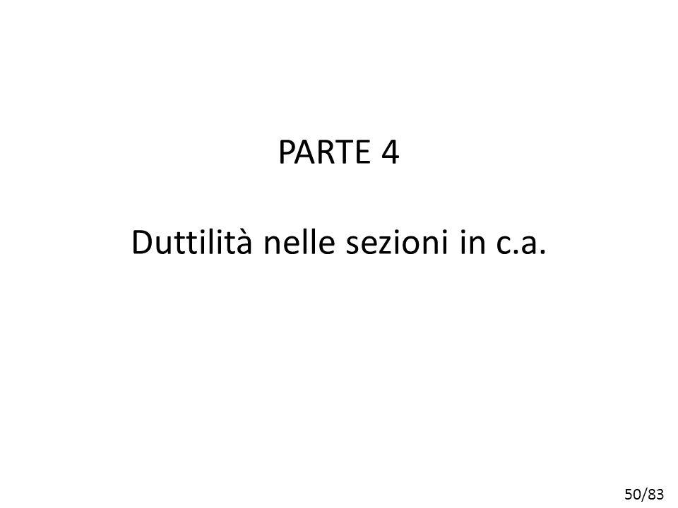 50/83 PARTE 4 Duttilità nelle sezioni in c.a.