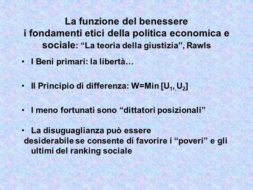 La funzione del benessere i fondamenti etici della politica economica e sociale: la soluzione egalitaria, Rousseau e Marx L'uguaglianza prima di tutto