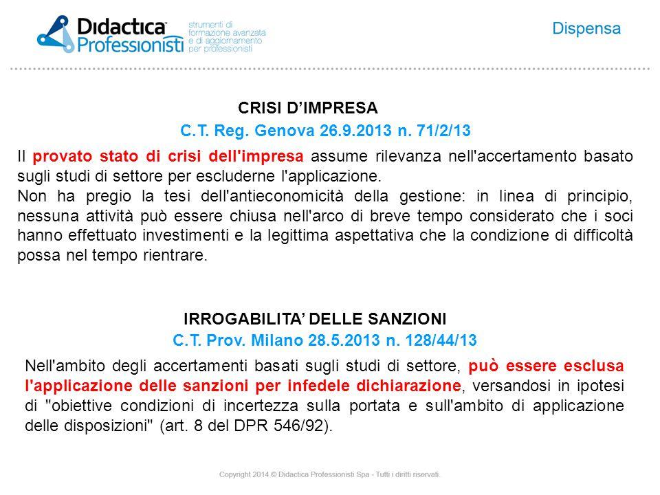 C.T. Reg. Genova 26.9.2013 n.