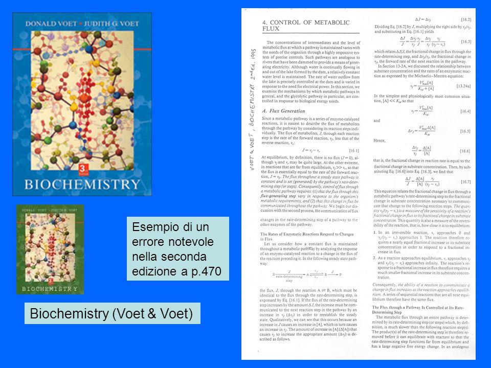 Biochemistry (Voet & Voet) Esempio di un errore notevole nella seconda edizione a p.470