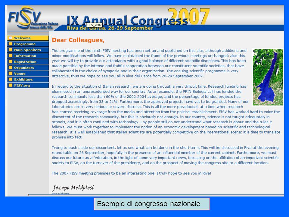 Esempio di congresso nazionale