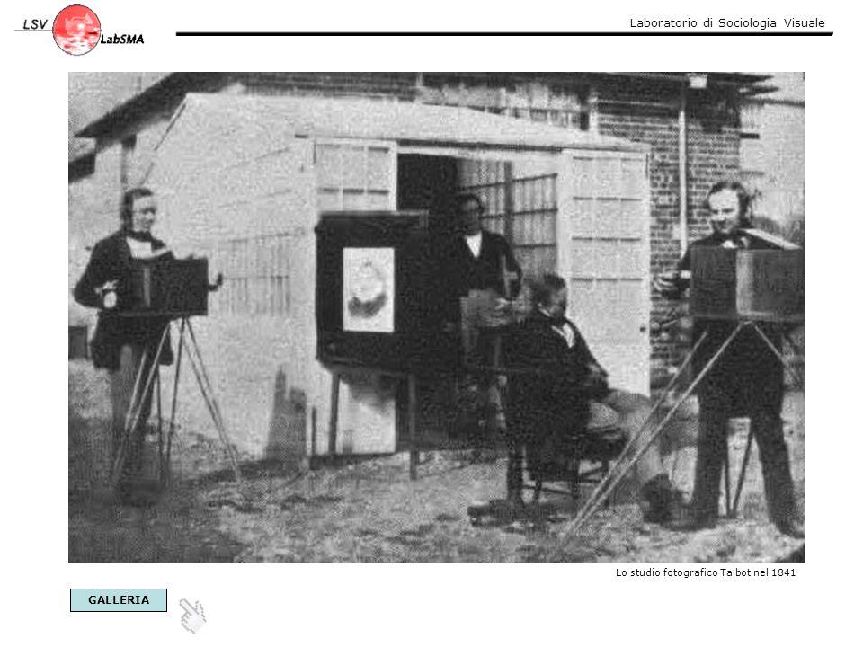 Laboratorio di Sociologia Visuale Lo studio fotografico Talbot nel 1841 GALLERIA