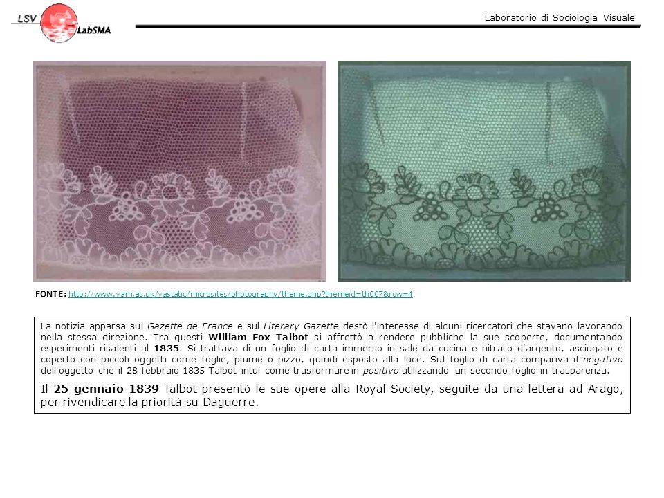 Laboratorio di Sociologia Visuale 1839 La prima fotografia in cui appare un essere umano realizzata per caso da Daguerre.