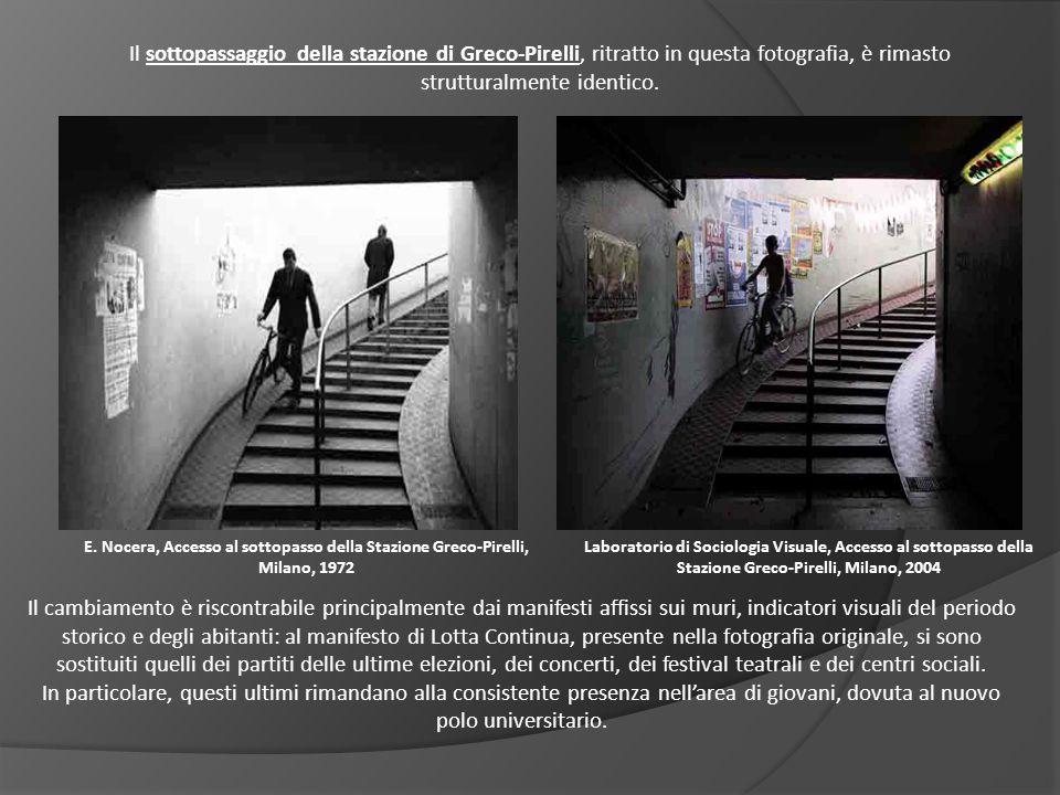 E. Nocera, Accesso al sottopasso della Stazione Greco-Pirelli, Milano, 1972 Laboratorio di Sociologia Visuale, Accesso al sottopasso della Stazione Gr