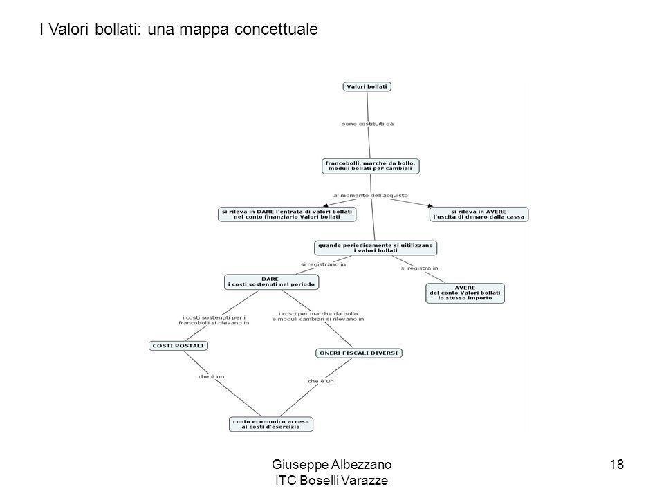 Giuseppe Albezzano ITC Boselli Varazze 18 I Valori bollati: una mappa concettuale